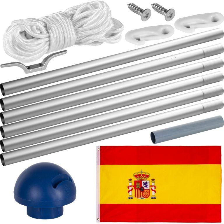 Vlajkový stožár vč. vlajky Španělsko – 650 cm