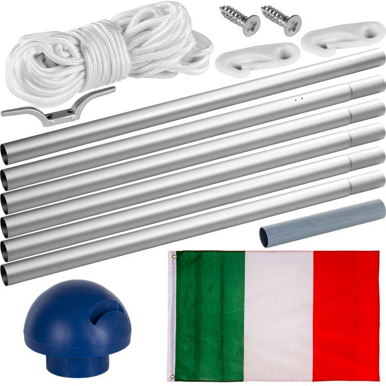 Vlajkový stožár vč. vlajky Itálie – 650 cm