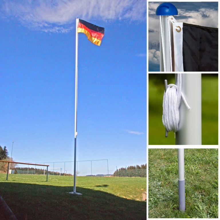 Vlajkový stožár vč. vlajky Dánsko – 650 cm