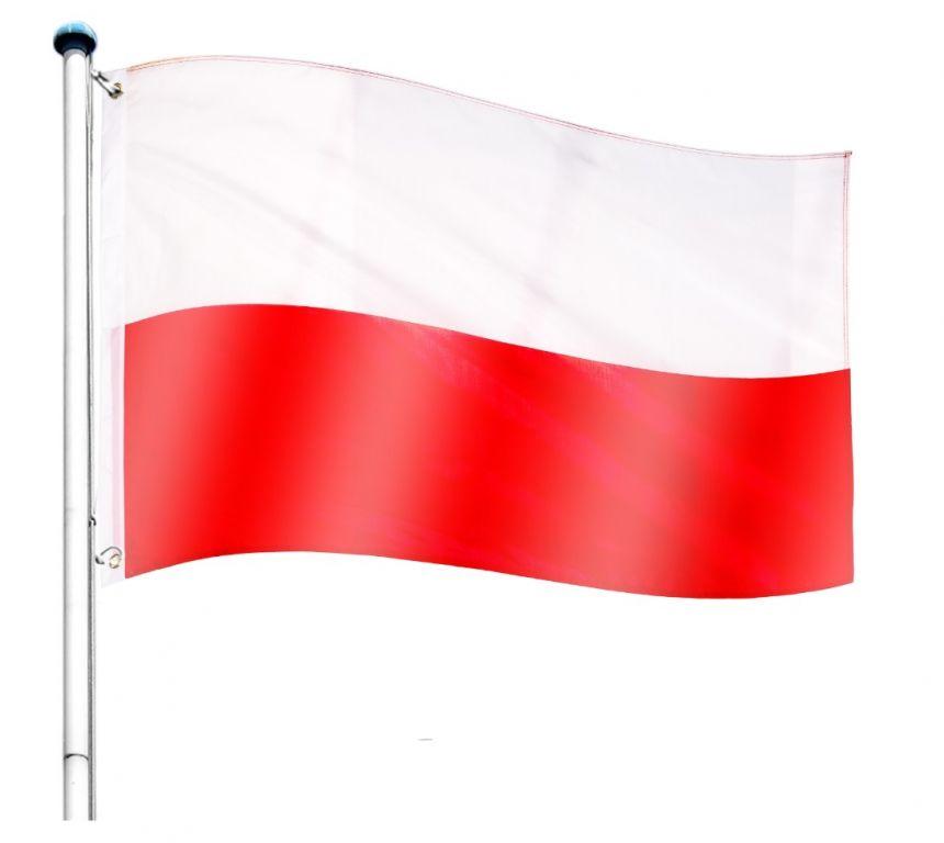 Vlajkový stožár vč. vlajky Polsko - 650 cm