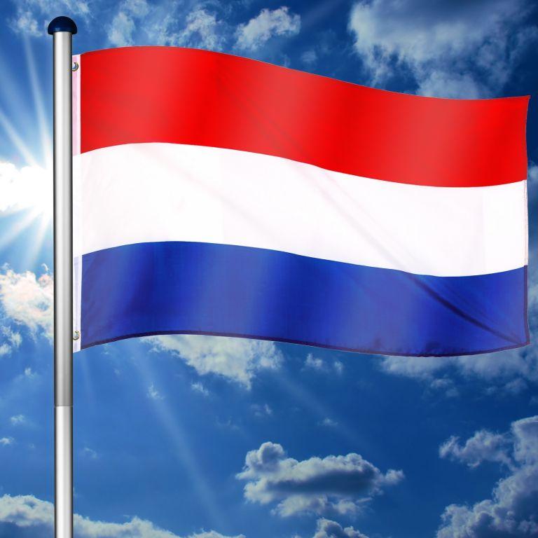 Vlajkový stožár vč. vlajky Nizozemí - 650 cm