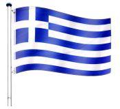Vlajkový stožár vč. vlajky - Řecko - 6,50 m