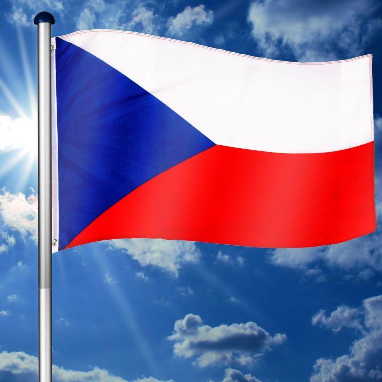 Vlajkový stožár vč. vlajky Česká republika - 6,50 m