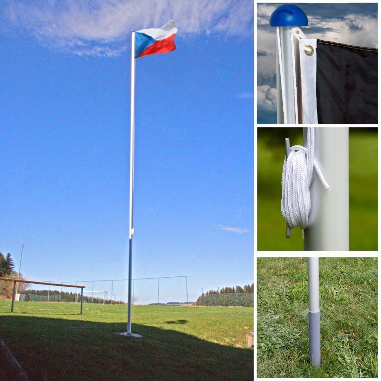 Vlajkový stožár vč. vlajky Česká republika - 650 cm