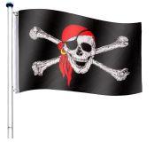 Vlajkový stožár vč. pirátské vlajky - 650 cm