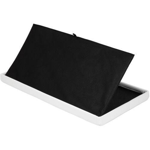 Skládací lavice s úložným prostorem - bílá