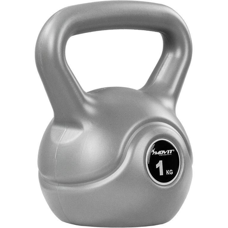 Kettlebell činka šedá – 1 kg