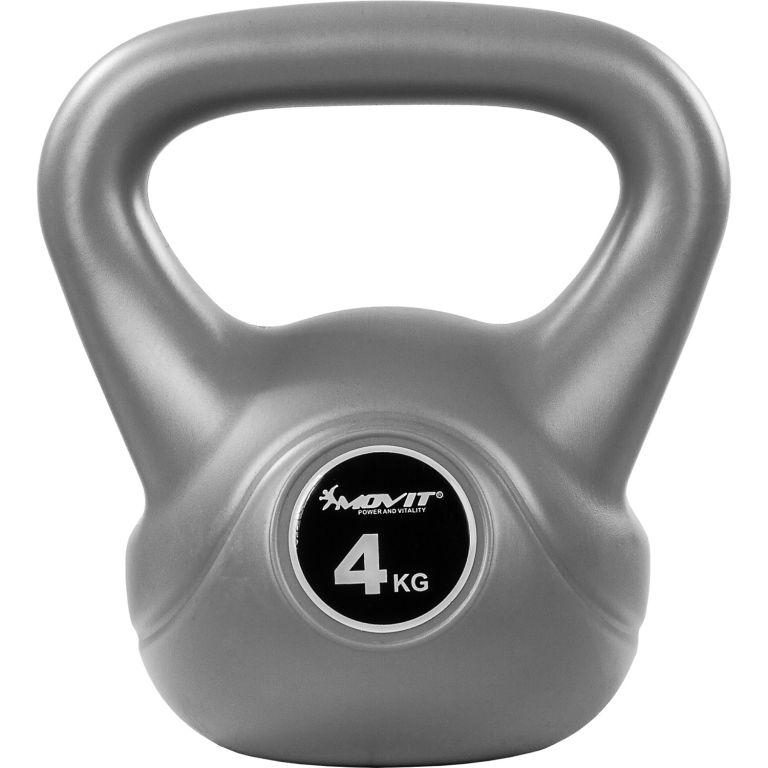 Kettlebell činka šedá – 4 kg