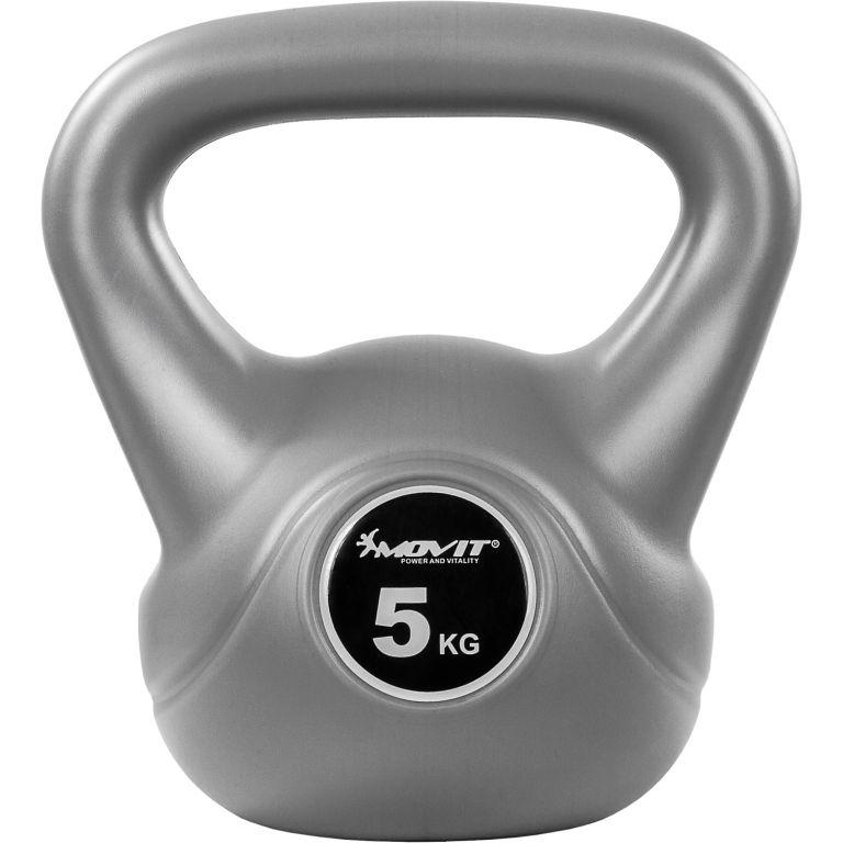 Kettlebell činka šedá – 5 kg