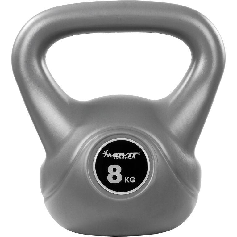 Kettlebell činka šedá – 8 kg