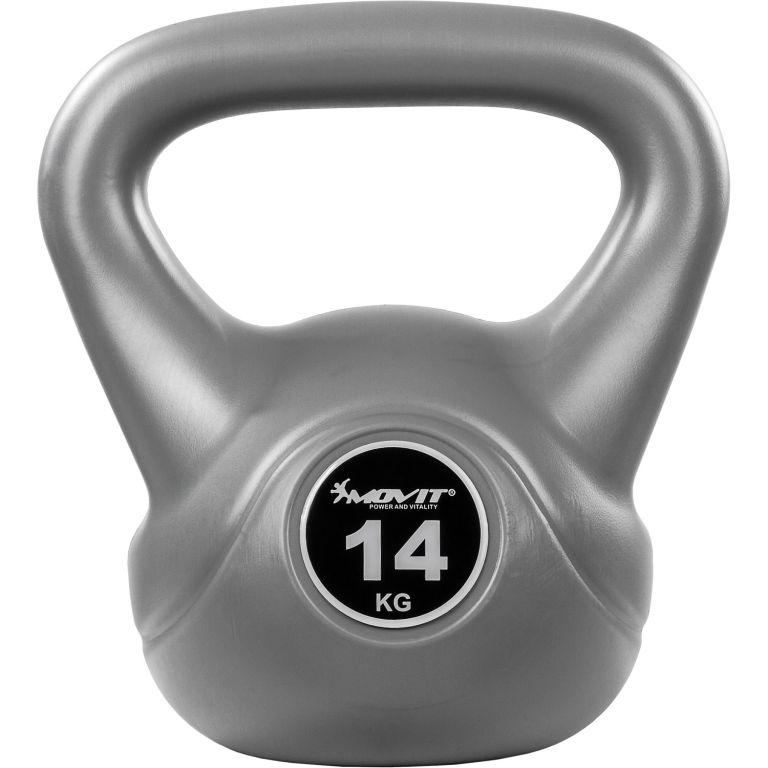 Kettlebell činka šedá – 14 kg
