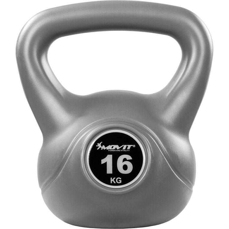 Kettlebell činka šedá – 16 kg