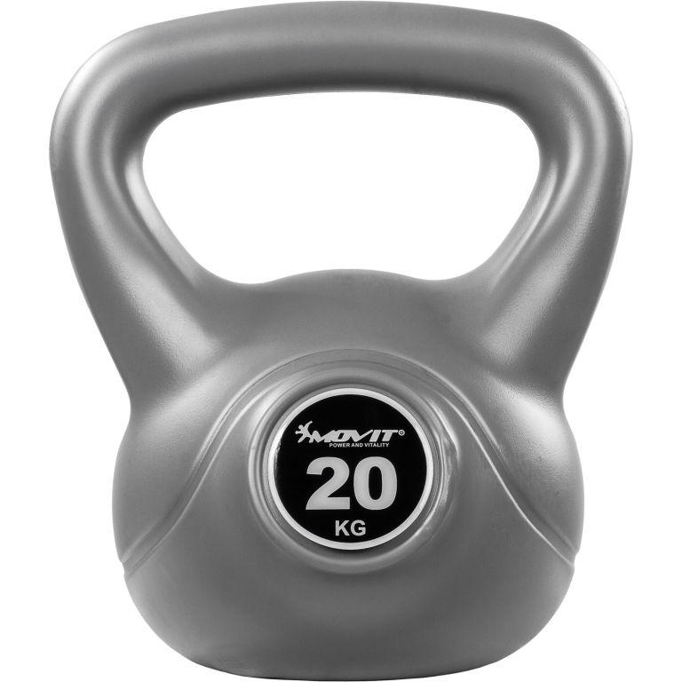 Kettlebell činka šedá – 20 kg