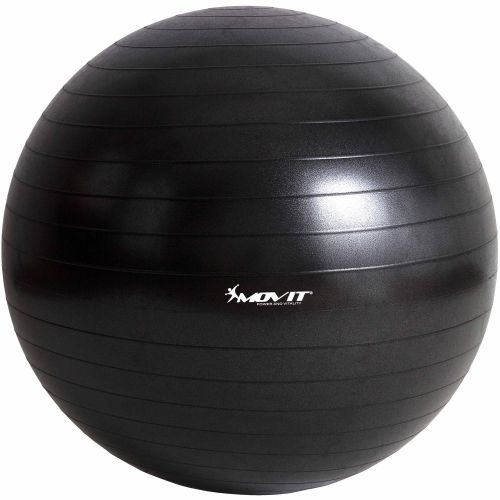 MOVIT 6334 Gymnastický míč - černý, 75 cm