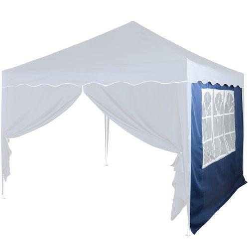 Boční stěna s trojdílným oknem - 3 x 3 m - modrý