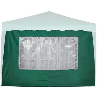 Boční stěna s trojdílným oknem - 3x2m - zelený