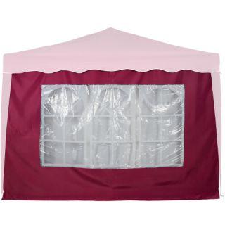 Boční stěna s trojdílným oknem - 3x2m - vínová