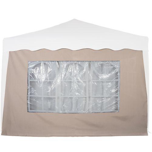 Boční stěna s trojdílným oknem - 3x3m - champagne