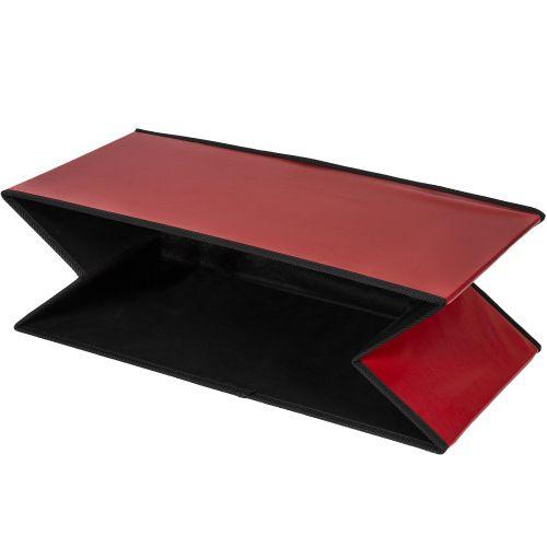 Skládací lavice s úložným prostorem - tmavě červená