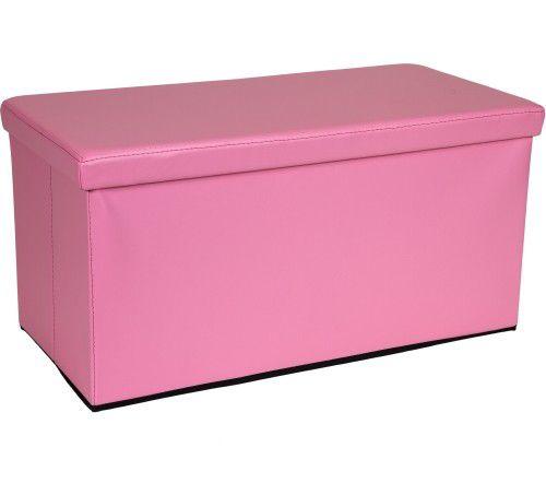 Skládací lavice s úložným prostorem - růžová