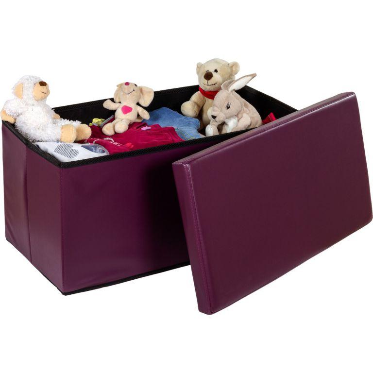 Skládací lavice s úložným prostorem - fialová/lila