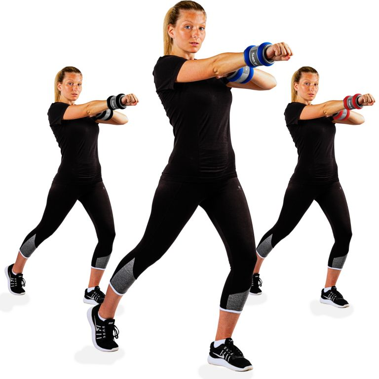 Neoprenové zátěžové reflexní manžety – 2 x 0,5 kg