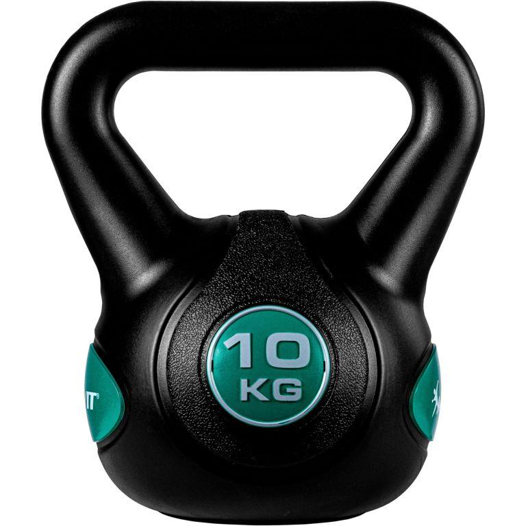 MOVIT Kettlebell činka - 10 kg, černá/petrolejová