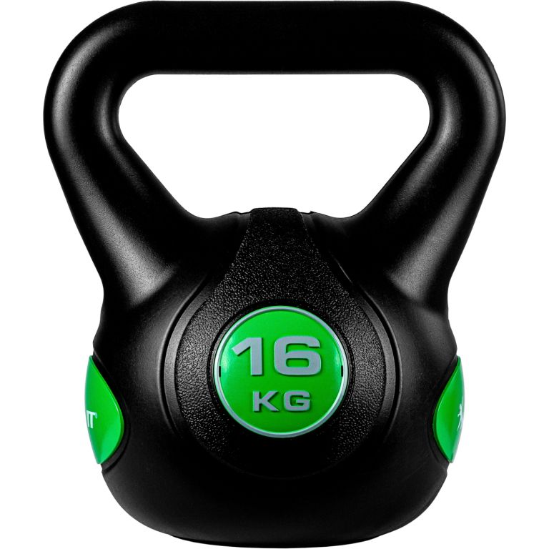 MOVIT Kettlebell činka - 16 kg, černá/zelená