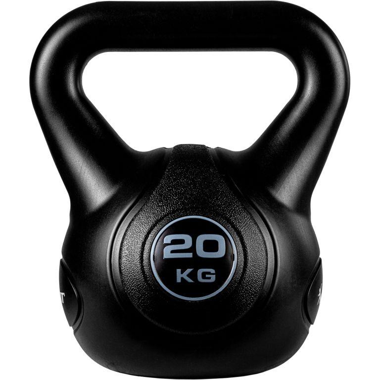 MOVIT Kettlebell činka - 20 kg, černá