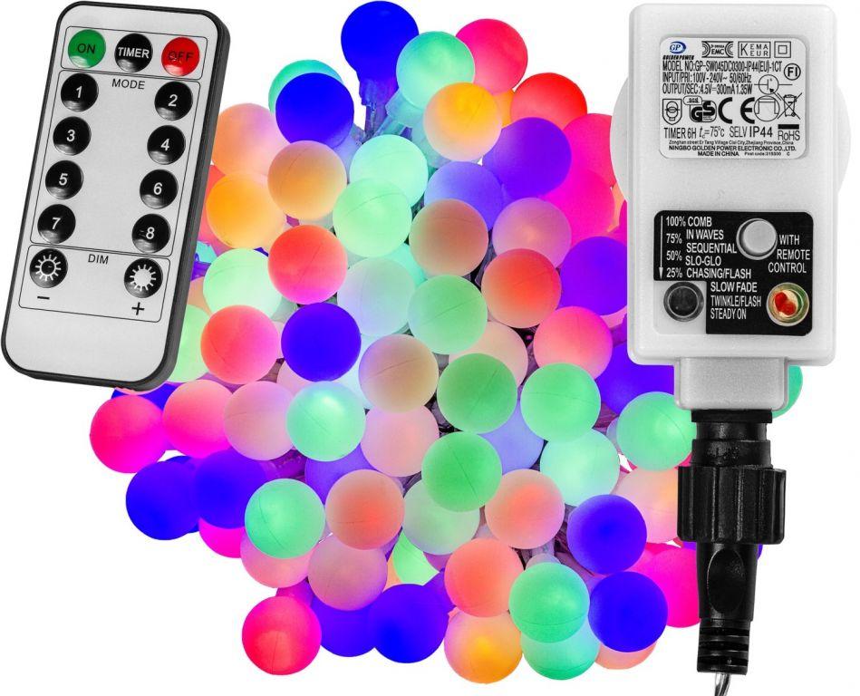 Párty osvětlení - 5 m, 50 LED diod, barevné + ovladač