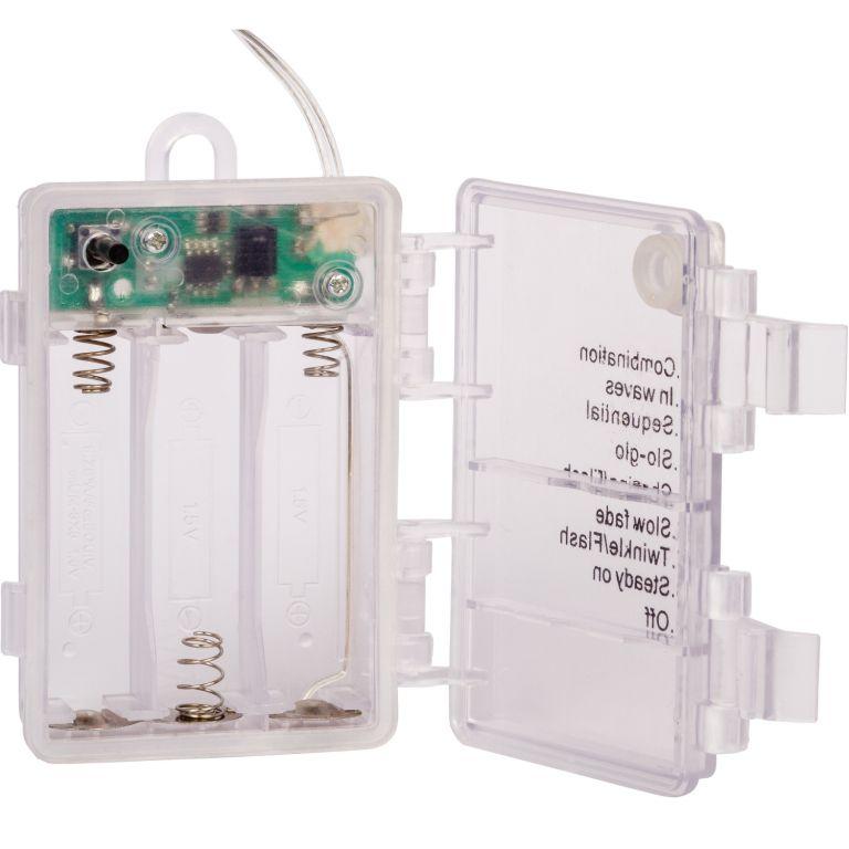 Párty osvětlení - 10 m, 100 LED diod, stud. bílé, na baterie