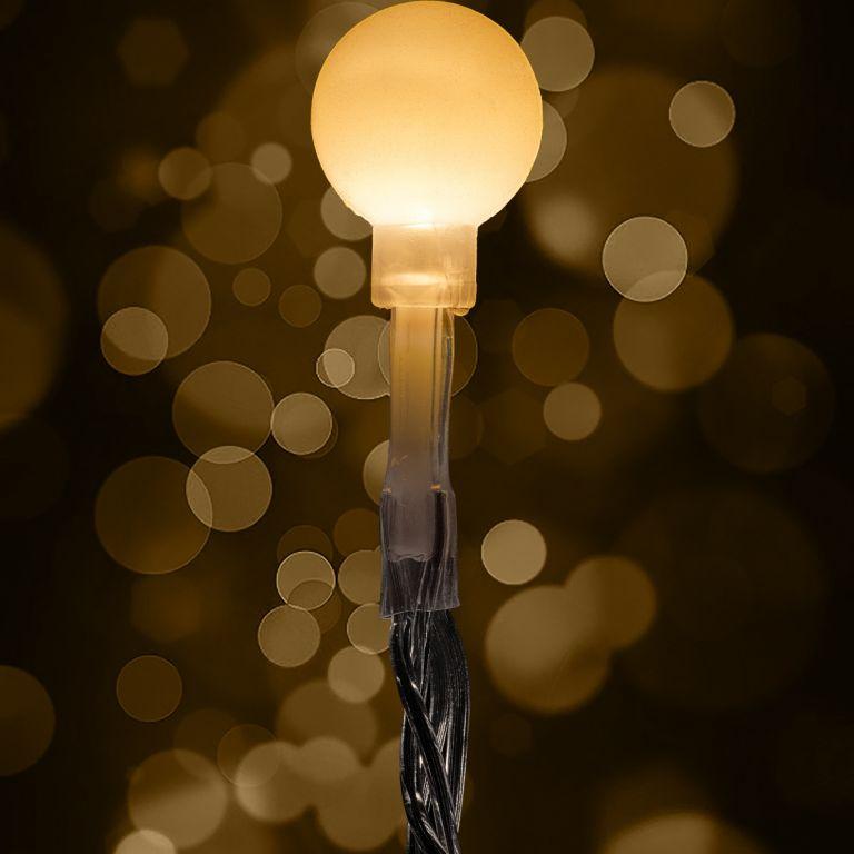 Párty osvětlení - 10 m, 100 LED diod, teple bílé + ovladač