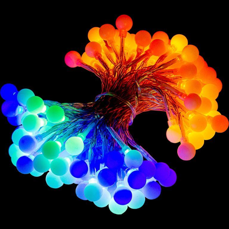 Párty osvětlení - 10 m, 100 LED diod, barevné + ovladač