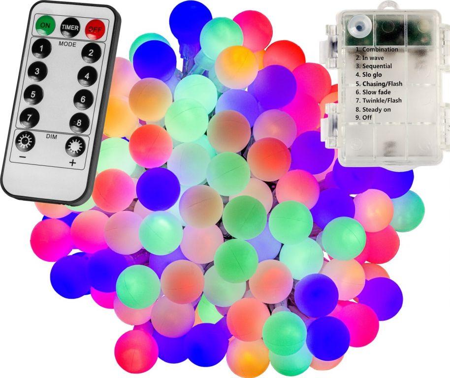 Párty osvětlení – 20 m, 200 LED diod, barevné, na baterie