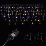 Vánoční světelný déšť - 15 m, 600 LED, teple/studeně bílý