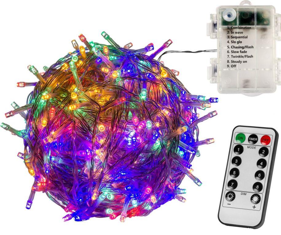 Vánoční LED osvětlení - 5 m, 50 LED, barevné, na baterie