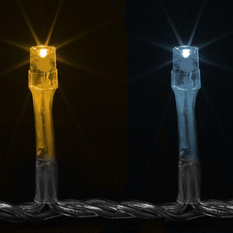 VOLTRONIC Vánoční řetěz - 40 m, 400 LED, teple/studeně bílý