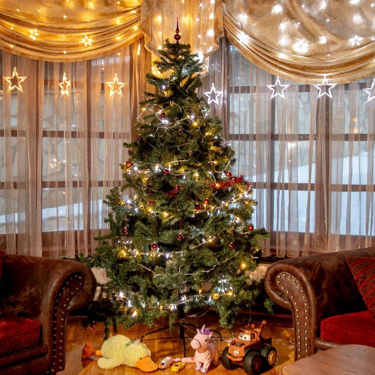 VOLTRONIC Vánoční řetěz - 50 LED, teple/stud.bílý + ovladač
