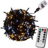 Vánoční osvětlení 40m - teple/studeně bílá 400LED  + ovladač