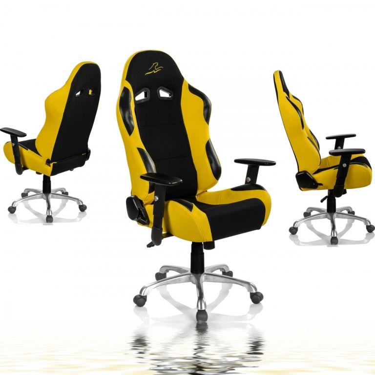 """Židle RACEMASTER """"RS Series"""", žlutá"""