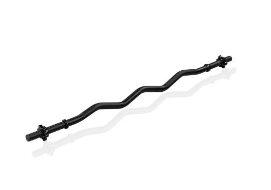 MOVIT posilovací tyč - 120 cm, černá, hvězdicový uzávěr