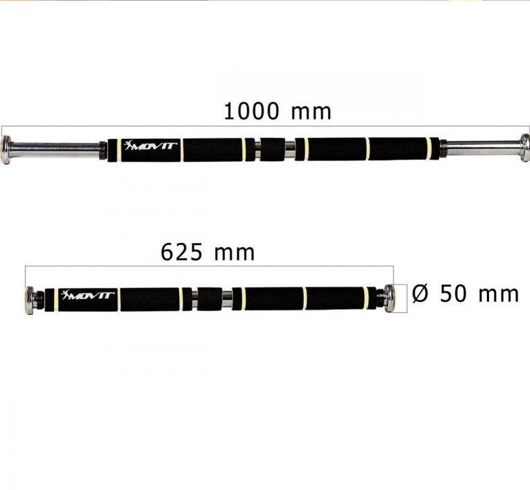 MOVIT® posilovací hrazda, černá/oranžová, polstrování
