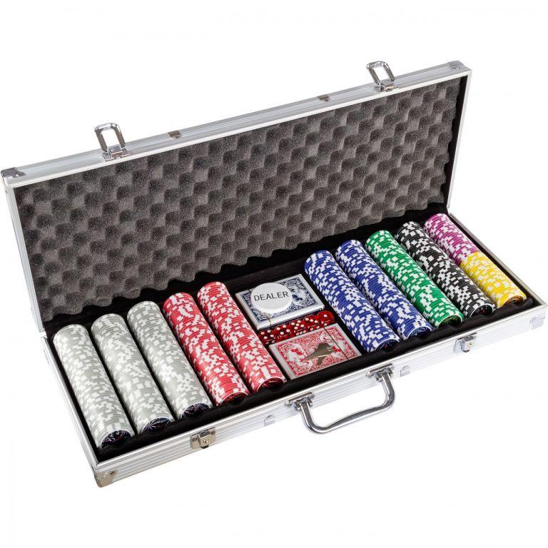 Pokerová set 1000 ks žetonů s příslušenstvím