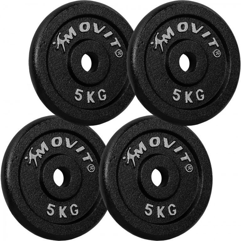 MOVIT  závaží 4 x 5,0 kg, litina