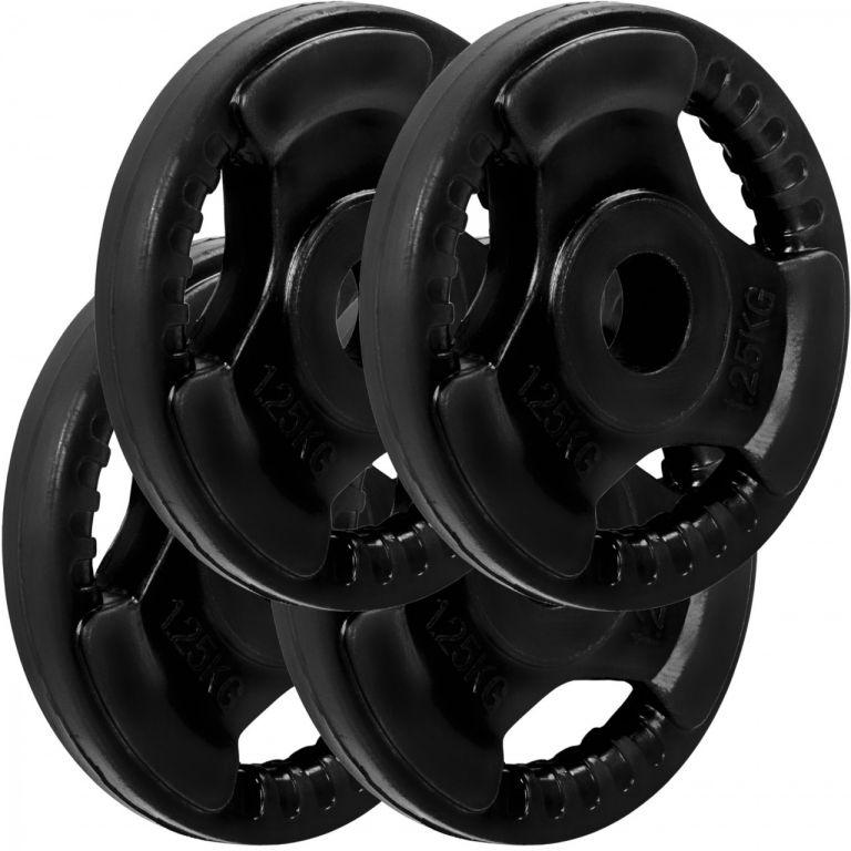 MOVIT sada závaží na činky s gumovým úchyt – 1,25 kg, litina