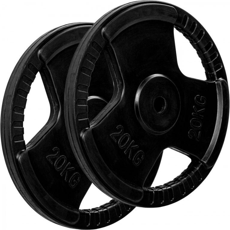 MOVIT sada závaží na činky s gumovým úchytem – 20 kg, litina