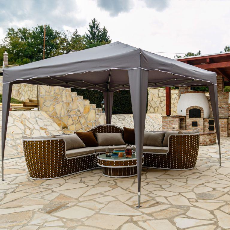 INSTENT BASIC zahradní párty stan – 3 x 3 m, antracit