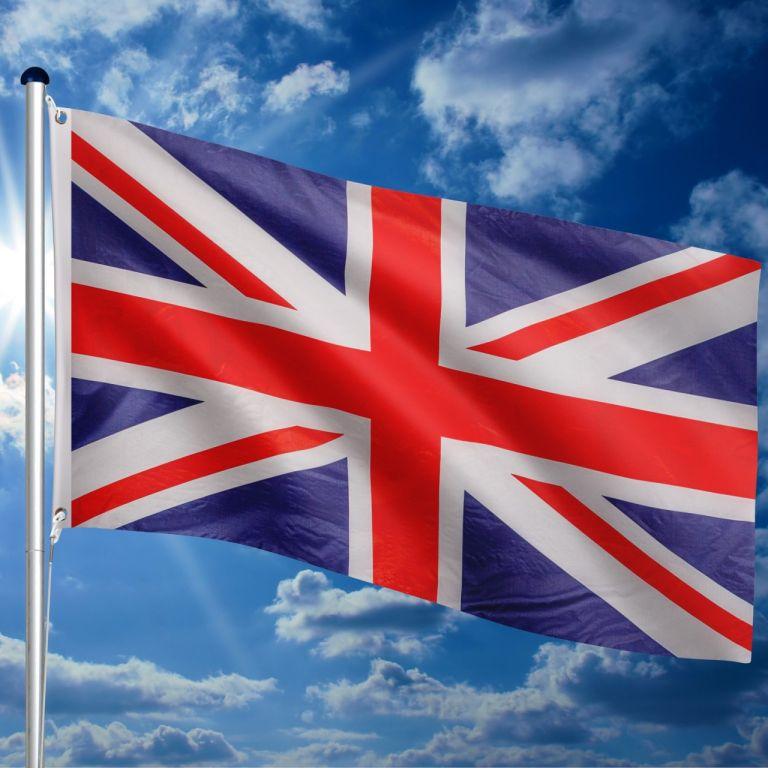 Vlajkový stožár vč. vlajky Velká Británie - 650 cm
