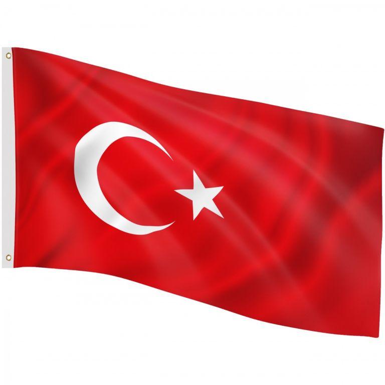 Vlajka Turecko, 120 cm x 80 cm