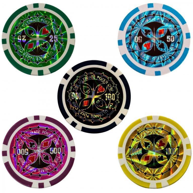 Pokerová sada, 300 žetonů + míchačka karet